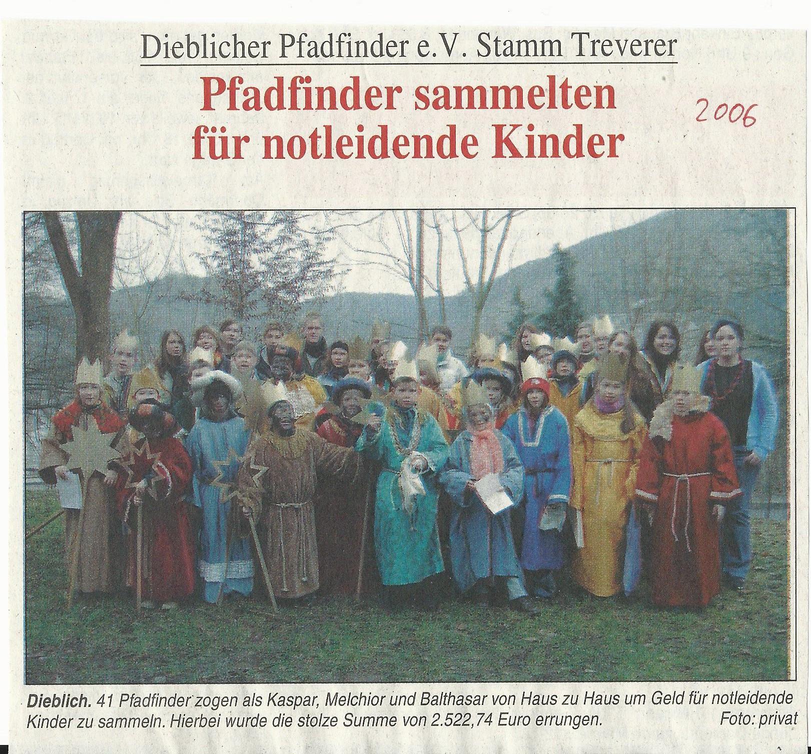 Pressebericht Sternsingeraktion 2006