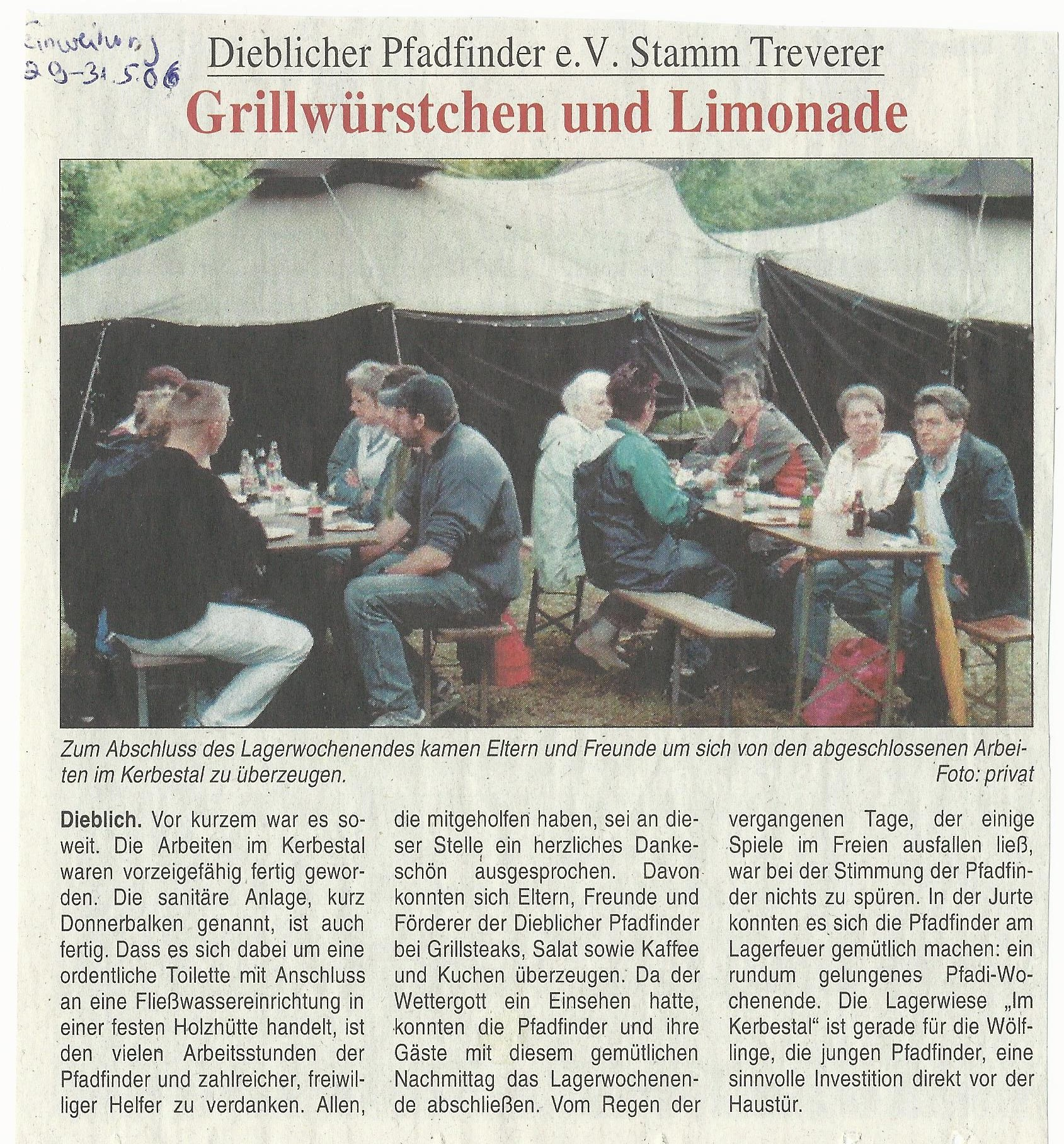 Bericht Lagerwoche 2006