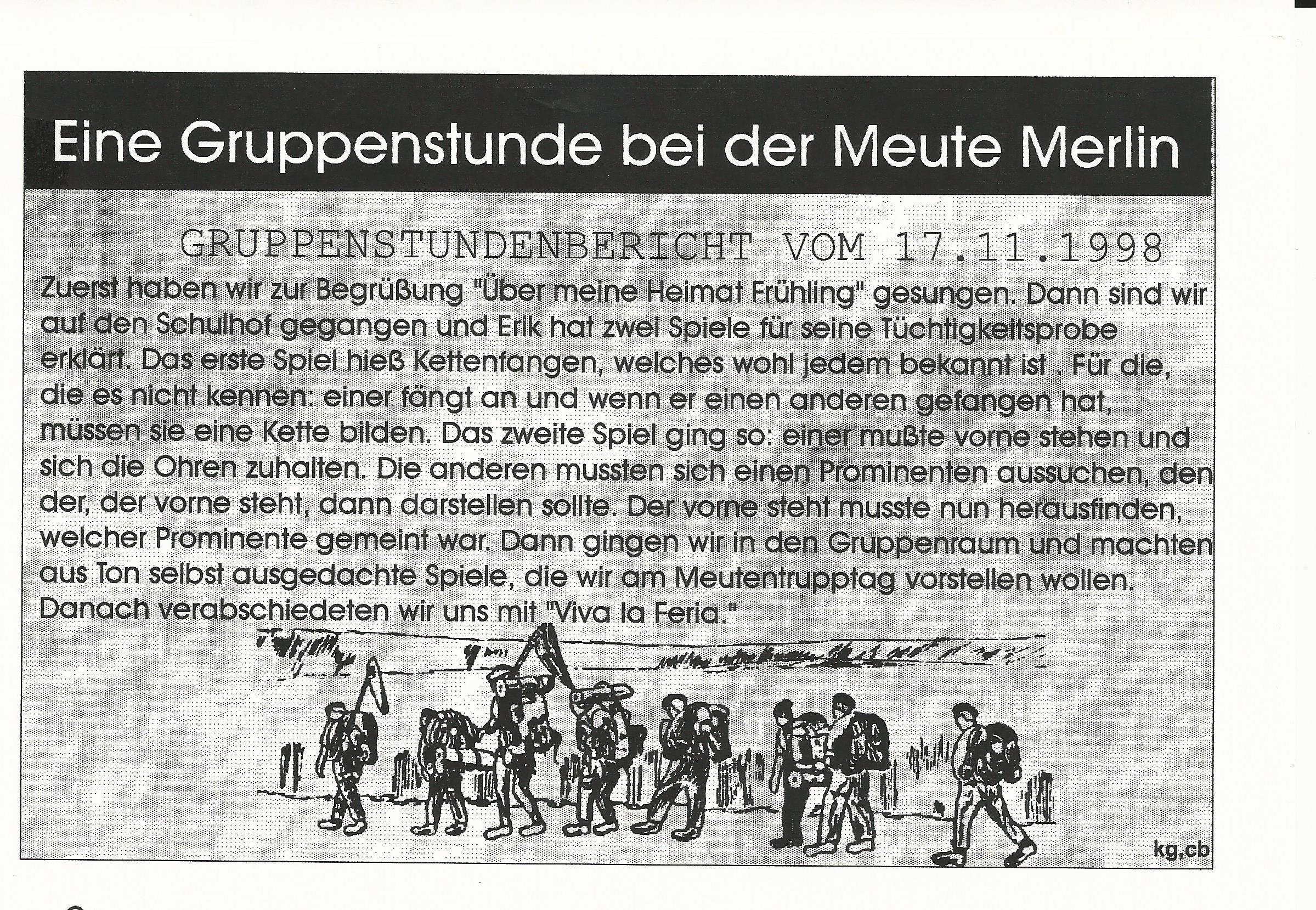 Merlin Gruppenstunde 1998