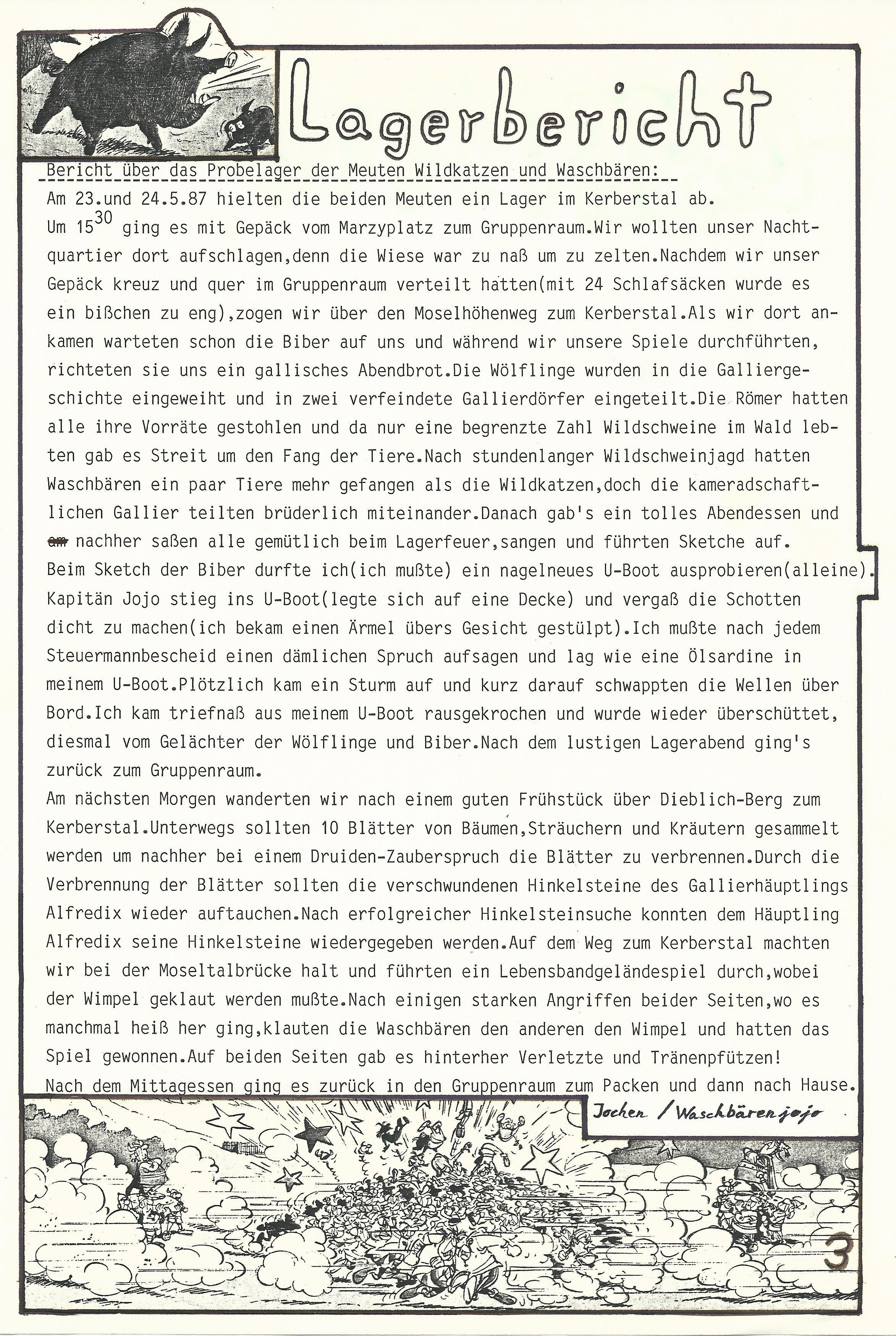 Meutenprobelager 1987