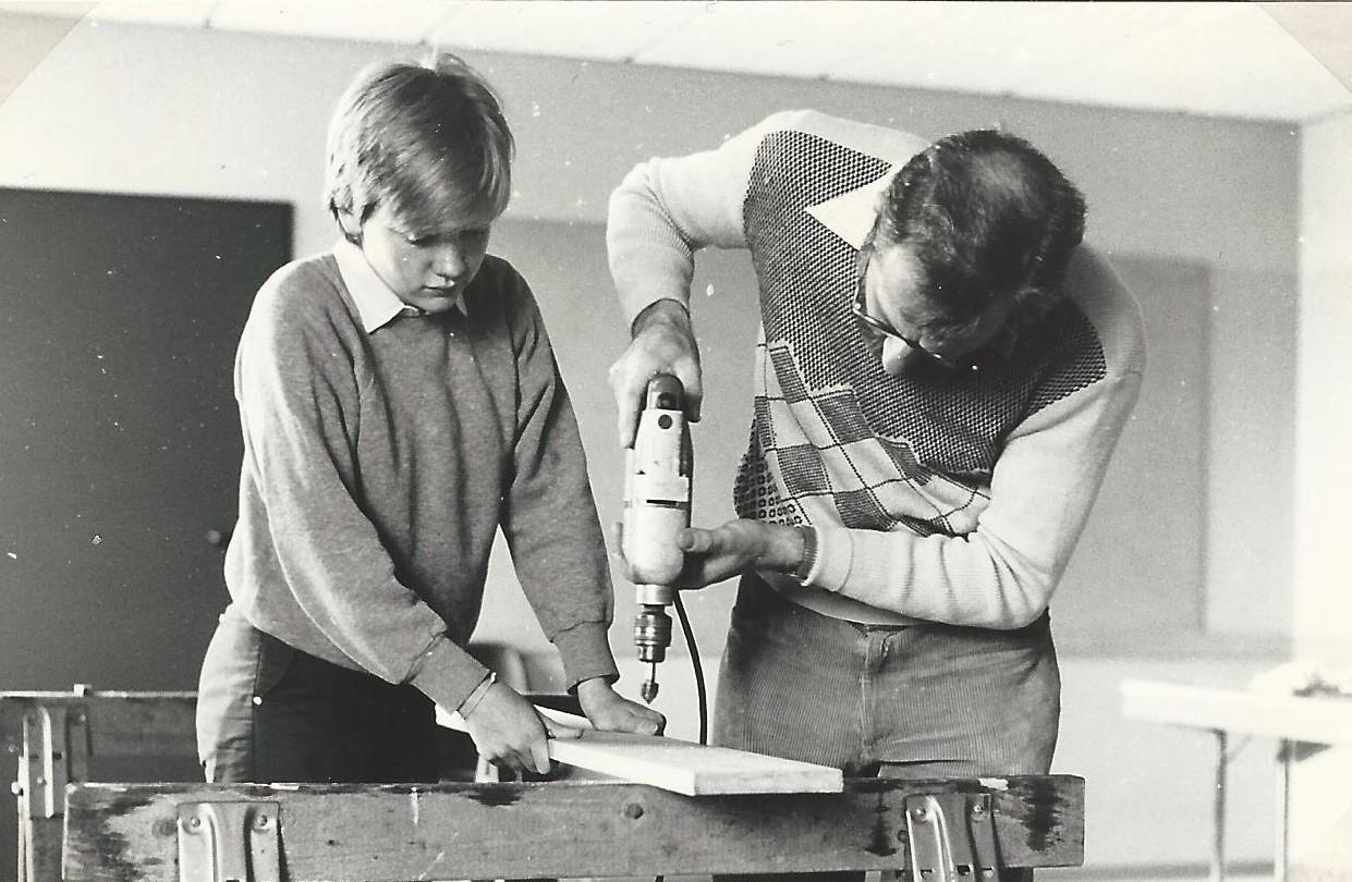 Neuer Gruppenraum Februar 1985