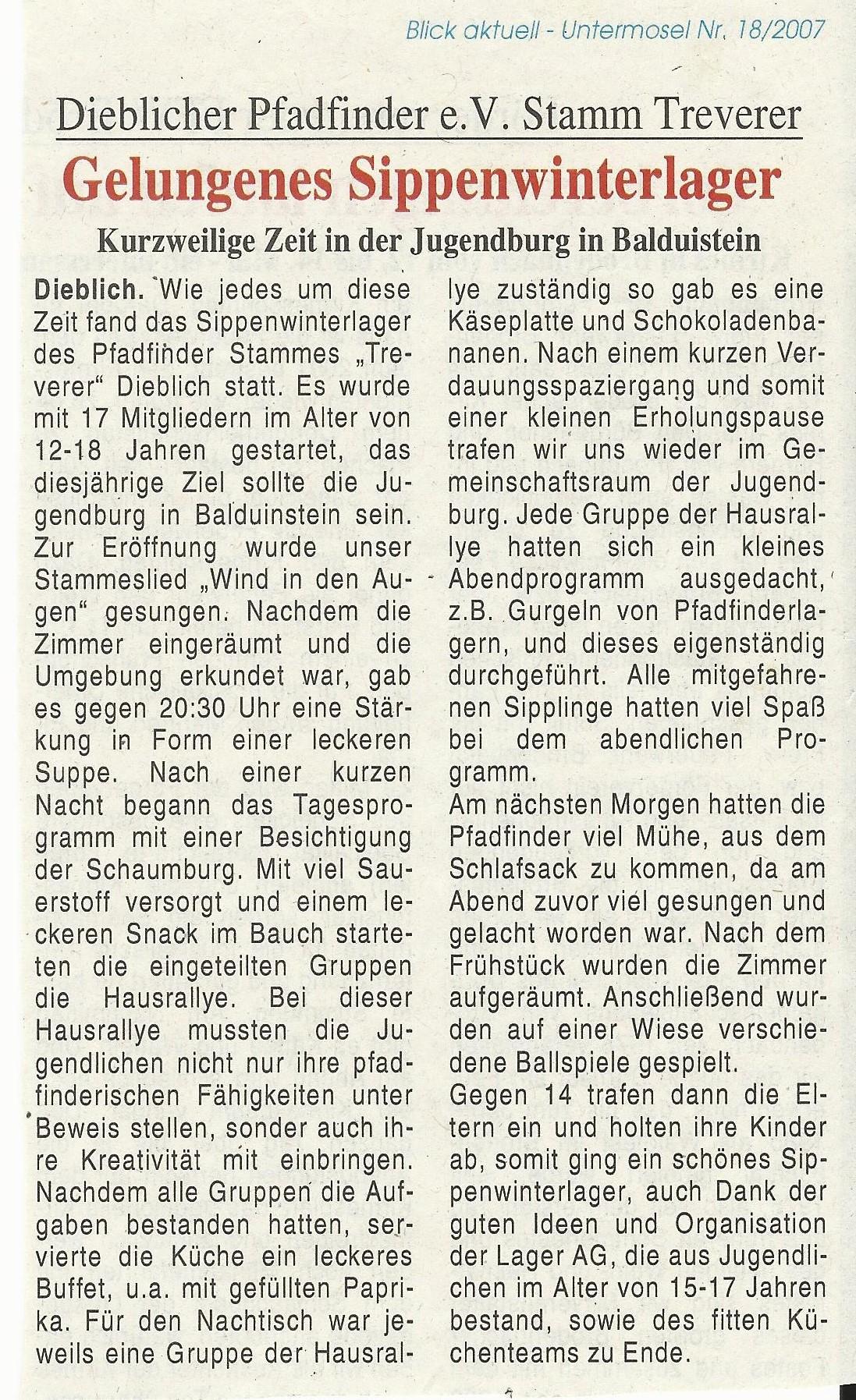 Pressebericht SiWiLa 2007