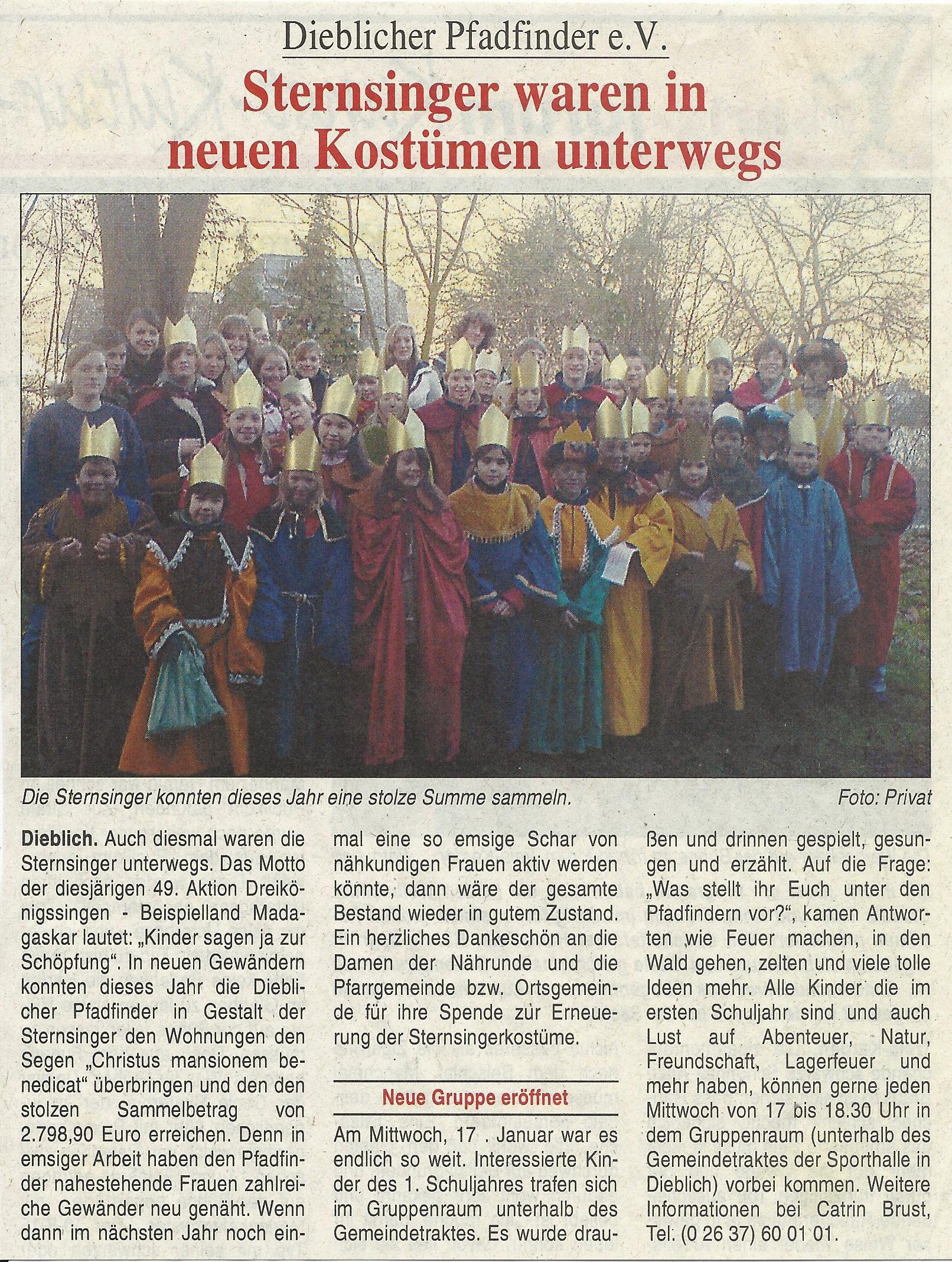 Pressebericht Sternsinger 2007