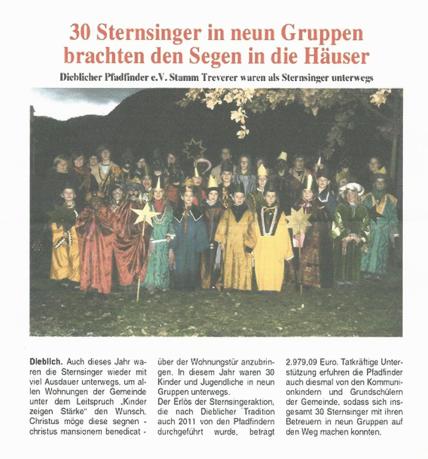 Sternsingeraktion 2011