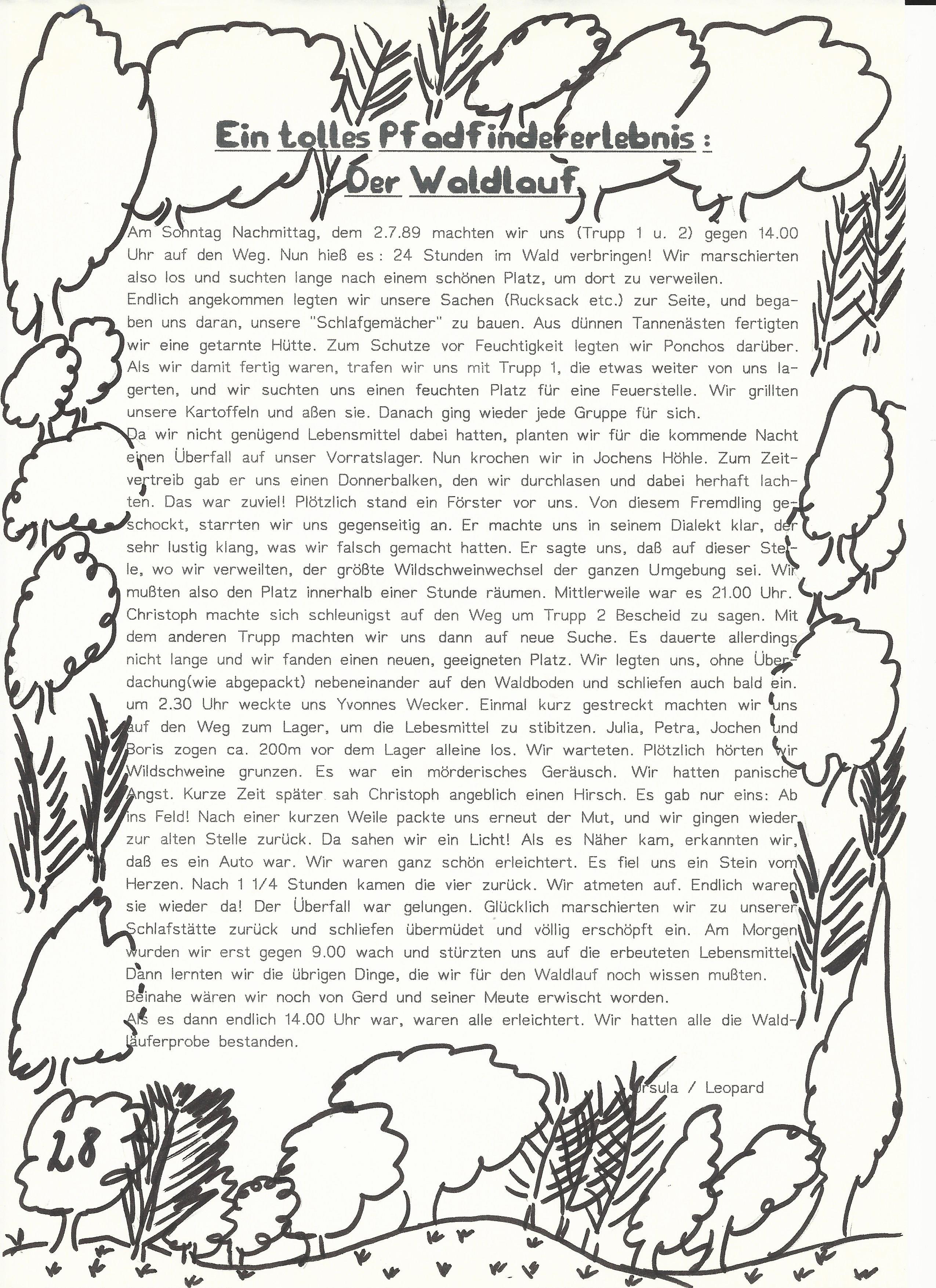 Waldläuferprobe 1989