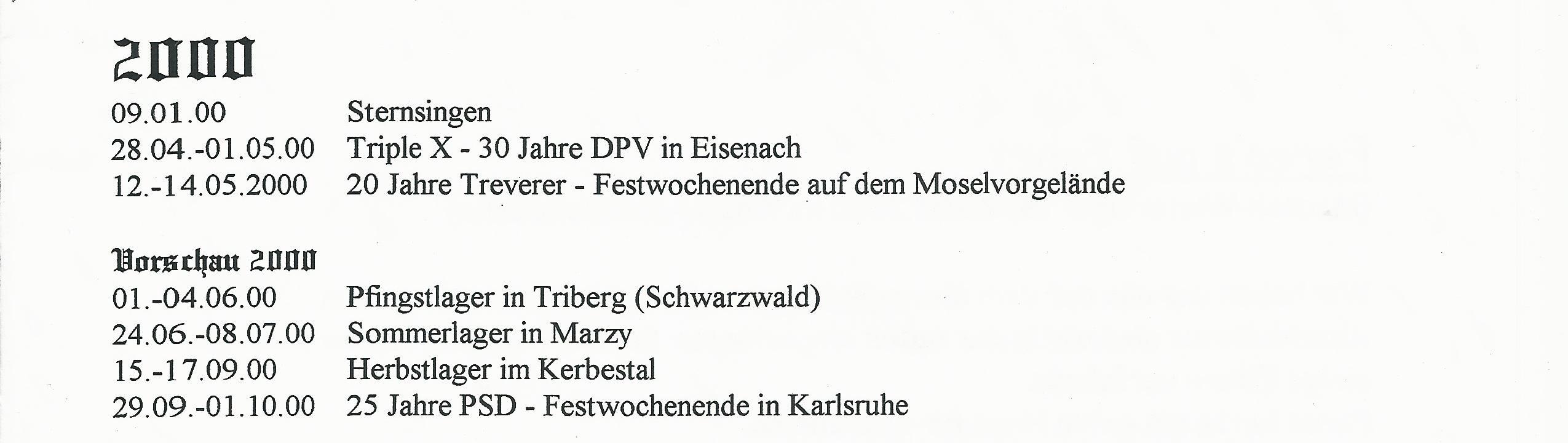 20 Jahre Treverer Chronik 20000006