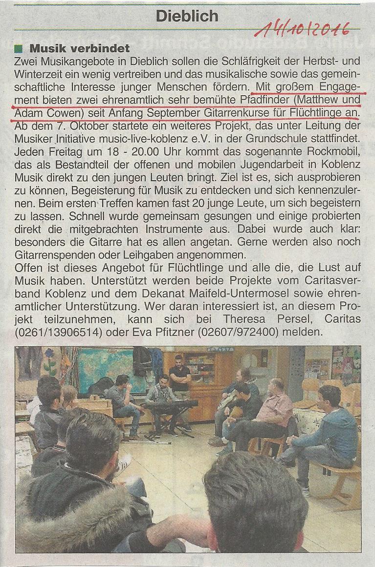 Mitteilungsblatt v. 14.10.2016 (Gitarrenkurse)