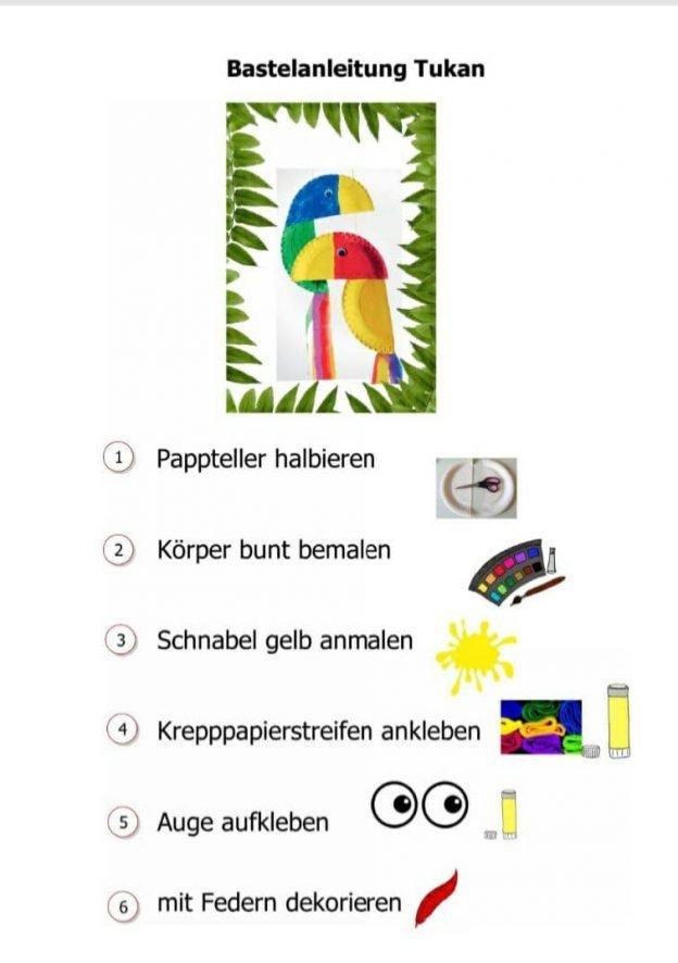 Anleitung, wie man einen Tukan basteln kann